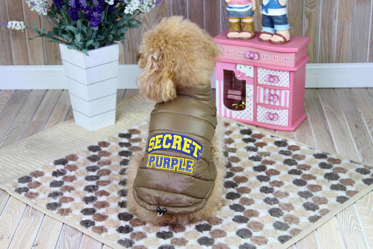 """Куртка для собак """"Dobaz"""", цвет: коричневая бронза. ДА1207СХС. Размер XS"""