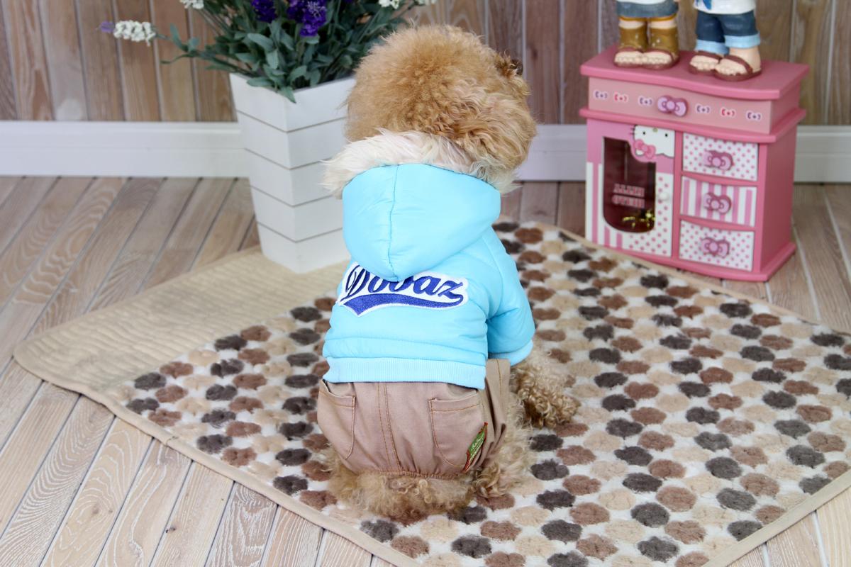 """Комбинезон для собак """"Dobaz"""", цвет: светло-серый, джинсовый, голубой. ДА1208ВХЛ. Размер XL"""