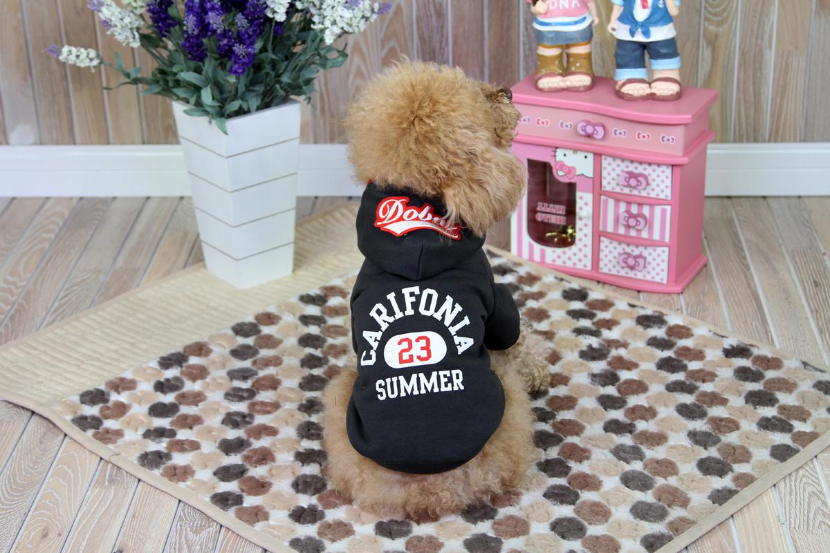 Толстовка для собак Dobaz Carifonia, цвет: черный. ДА1209ДХС. Размер XS куртка для собак dobaz цвет серый черный да1222вхс размер xs