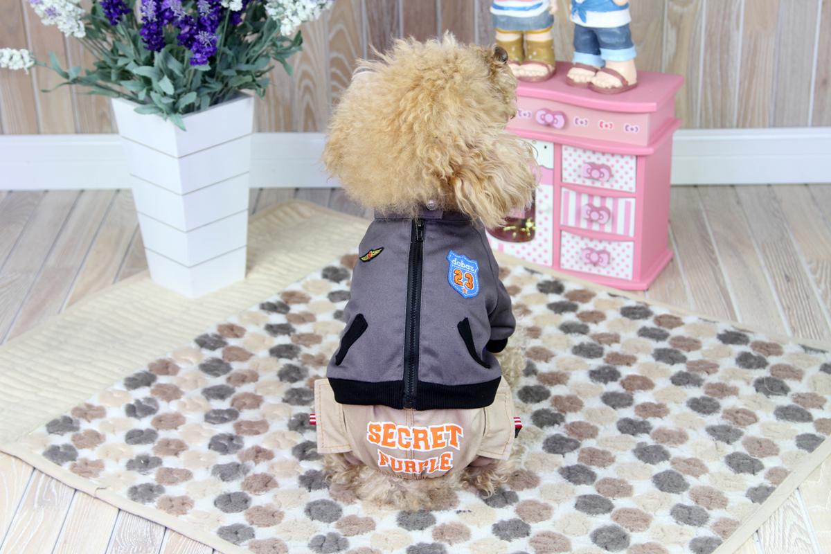 Комбинезон для собак Dobaz, цвет: серый, бежевый. ДА1218А2ХЛ. Размер 2XL комбинезон для собак dobaz утепленный цвет бежевый дл1008бхл размер xl