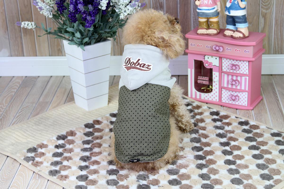"""Куртка для собак """"Dobaz"""", цвет: серый, черный. ДА1222ВХЛ. Размер XL"""