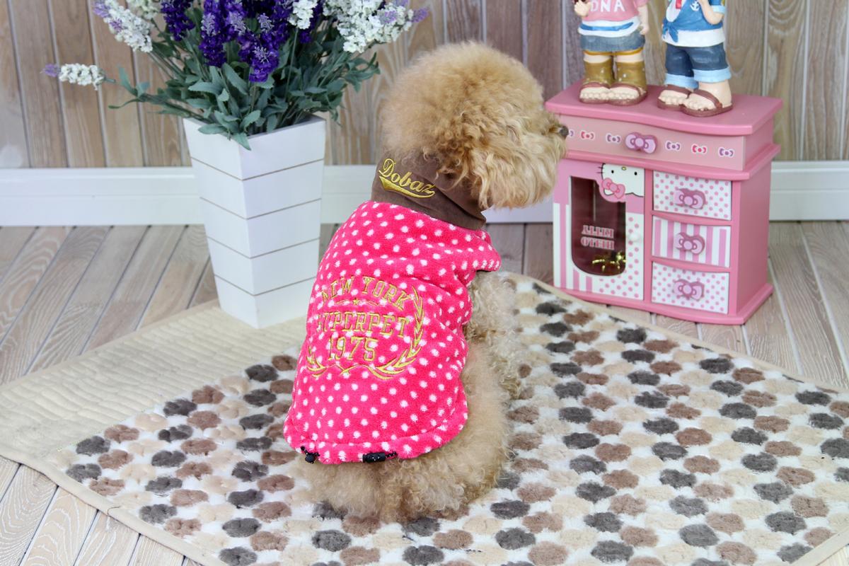 """Толстовка для собак """"Dobaz"""", для девочки, цвет: розовый, белый. ДА1224ВЛ. Размер L"""