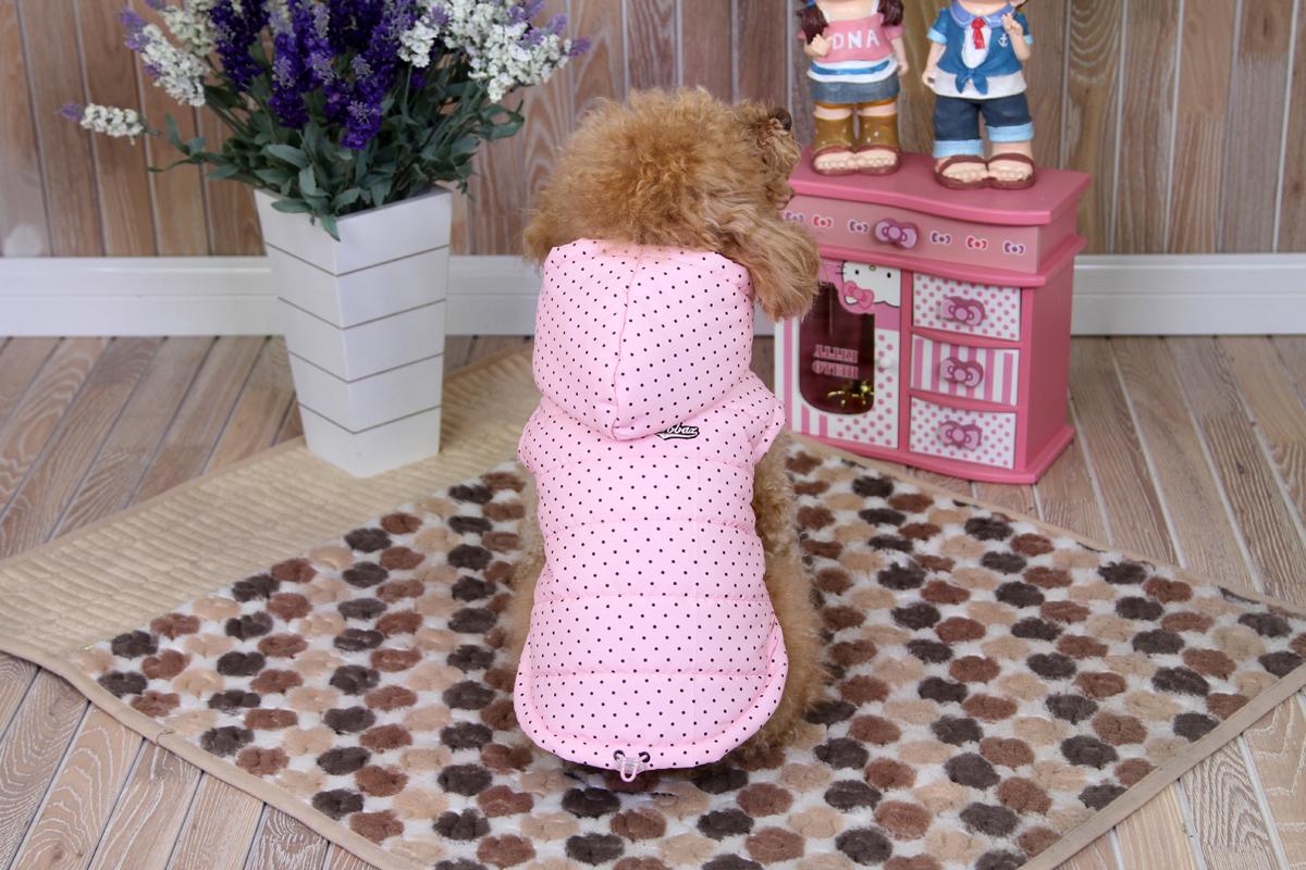 """Куртка для собак """"Dobaz"""", цвет: розовый, черный. ДА1233ВХЛ. Размер XL"""