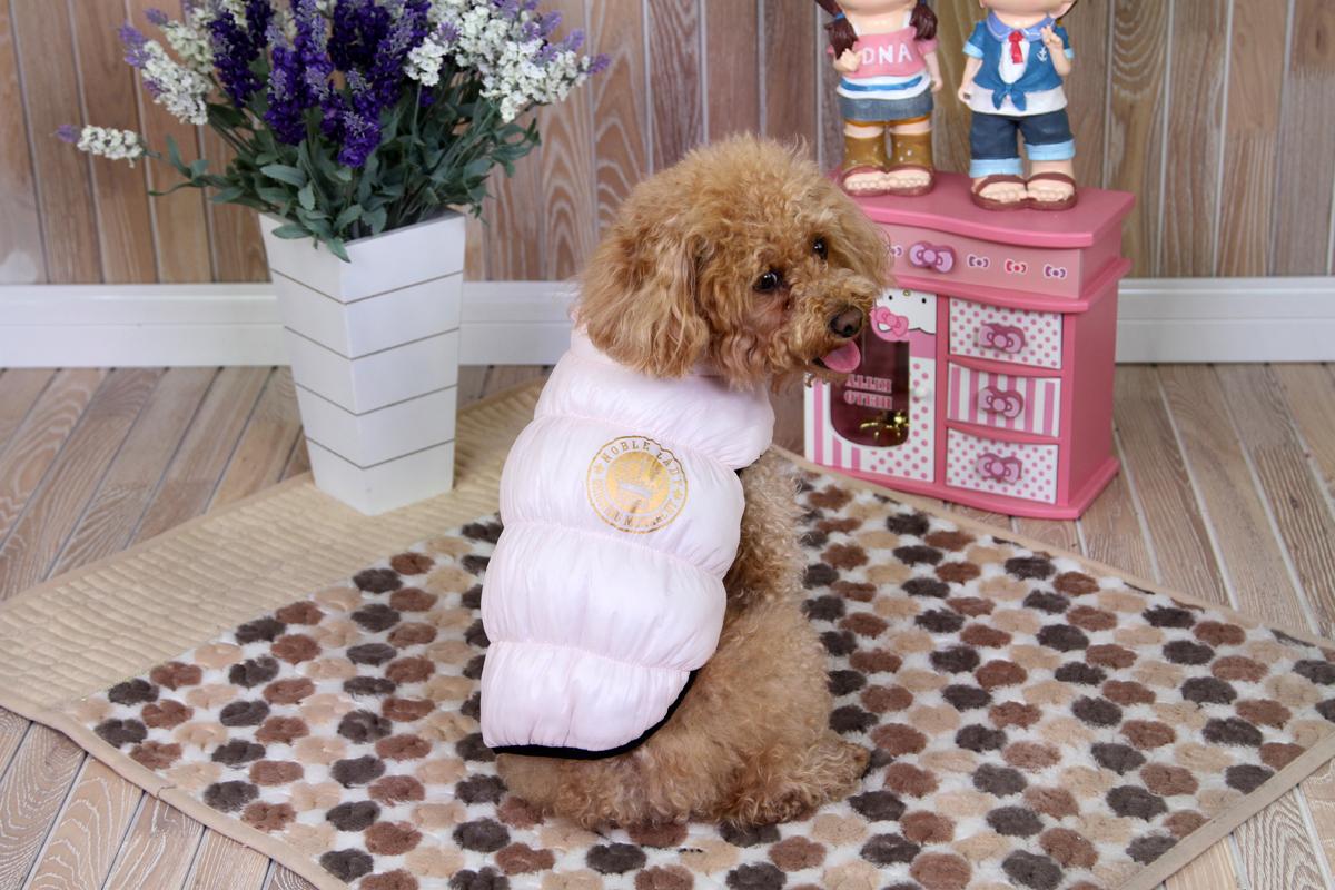 Куртка для собак Dobaz, цвет: розовый. ДА1234ВМ. Размер M куртка для собак dobaz цвет серый черный да1222вхс размер xs