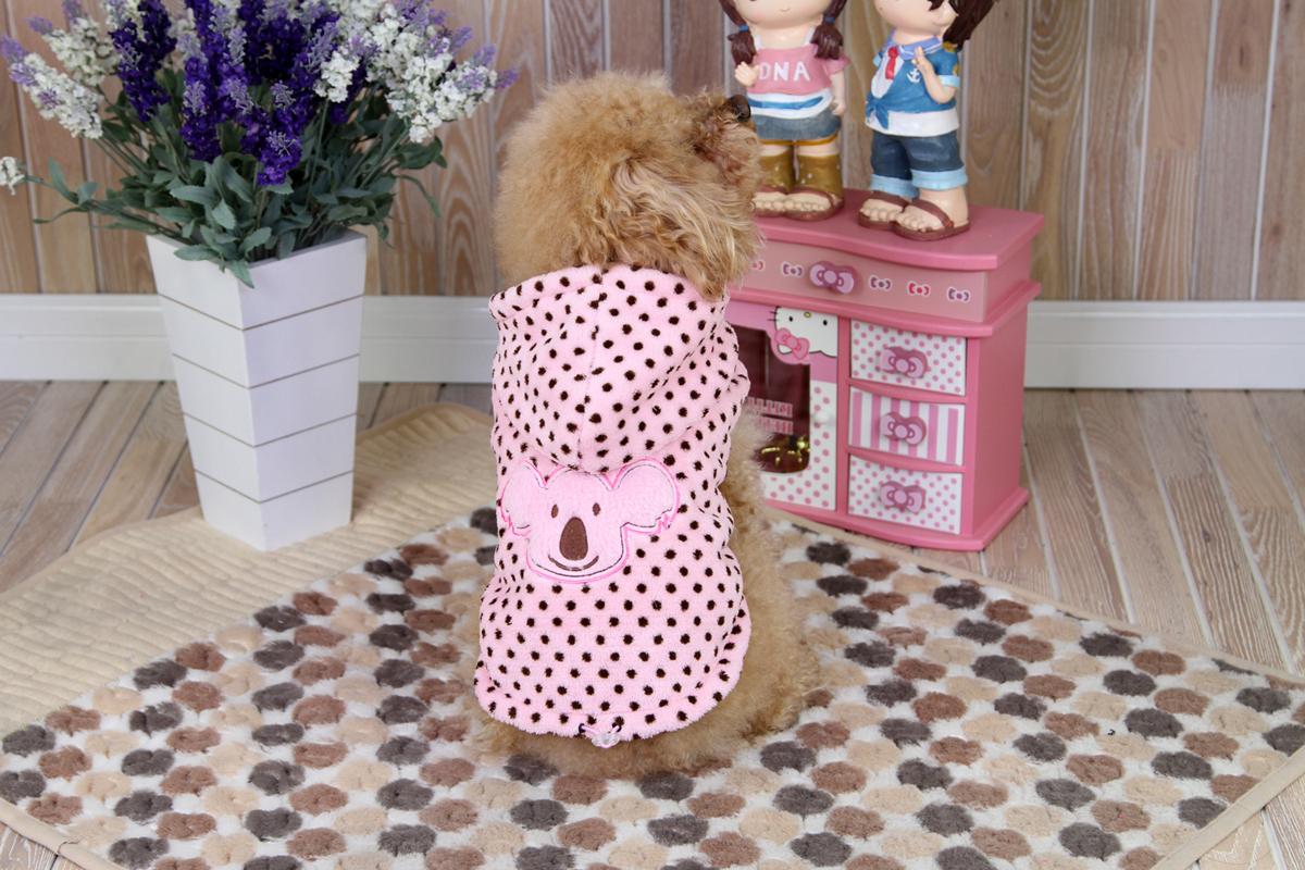 """Толстовка для собак Dobaz """"Коала"""", для девочки, цвет: розовый, черный. ДА1236СХЛ. Размер XL"""