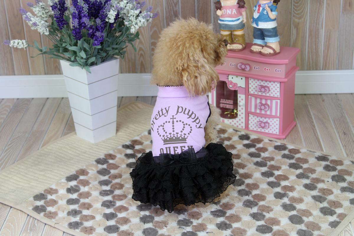 """Платье-пачка для собак """"Dobaz"""", цвет: сиреневый, черный. ДА1239СХЛ. Размер XL"""