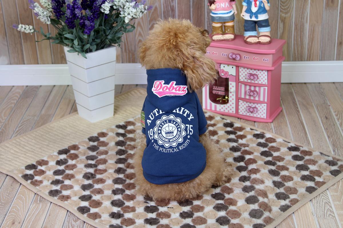 Толстовка для собак Dobaz, унисекс, цвет: синий. ДА1242СХЛ. Размер XL толстовка мужская karff цвет черный синий 93031 04 размер xl 54