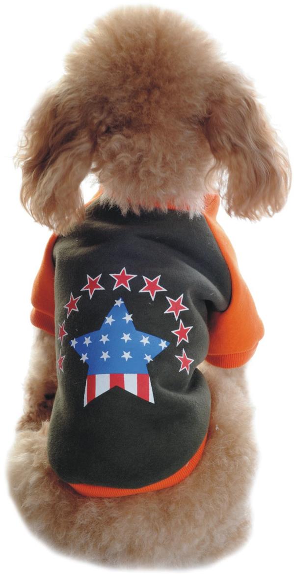 Майка-толстовка для собак Dobaz, утепленная, цвет: хаки, оранжевый. ДЛ1101АХХЛ. Размер XXL майка для собак dobaz паровозик унисекс цвет темно зеленый оранжевый да025бххл размер xxl