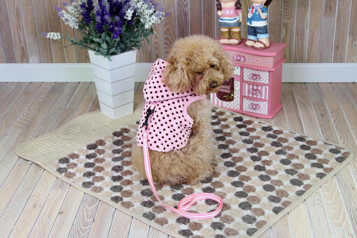 """Толстовка для собак """"Dobaz"""", утепленная, для девочки, цвет: розовый, белый. ДН1209ВЛ. Размер L"""