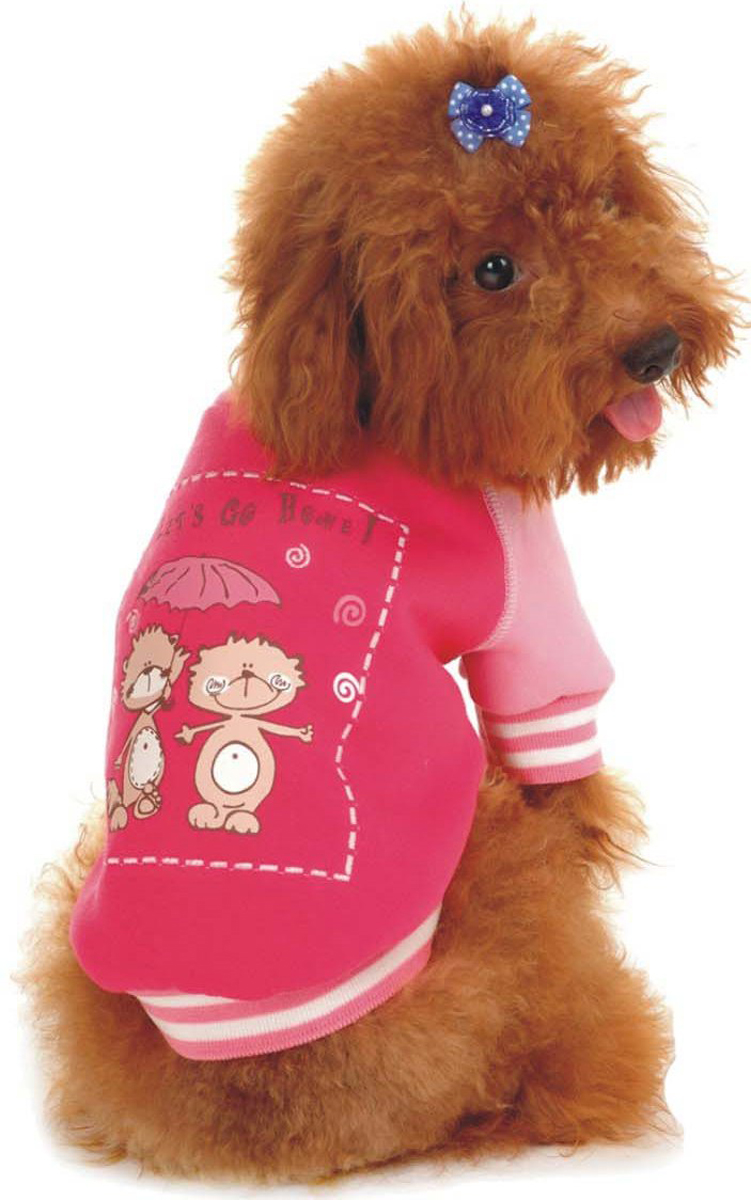 """Майка-толстовка для собак """"Dobaz"""", утепленная, цвет: розовый. ДФ08025СХХЛ. Размер XXL"""