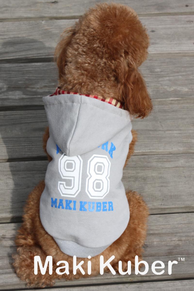 """Майка-толстовка для собак Dobaz """"98"""", утепленная, цвет: серый. МК1119БХЛ. Размер XL"""