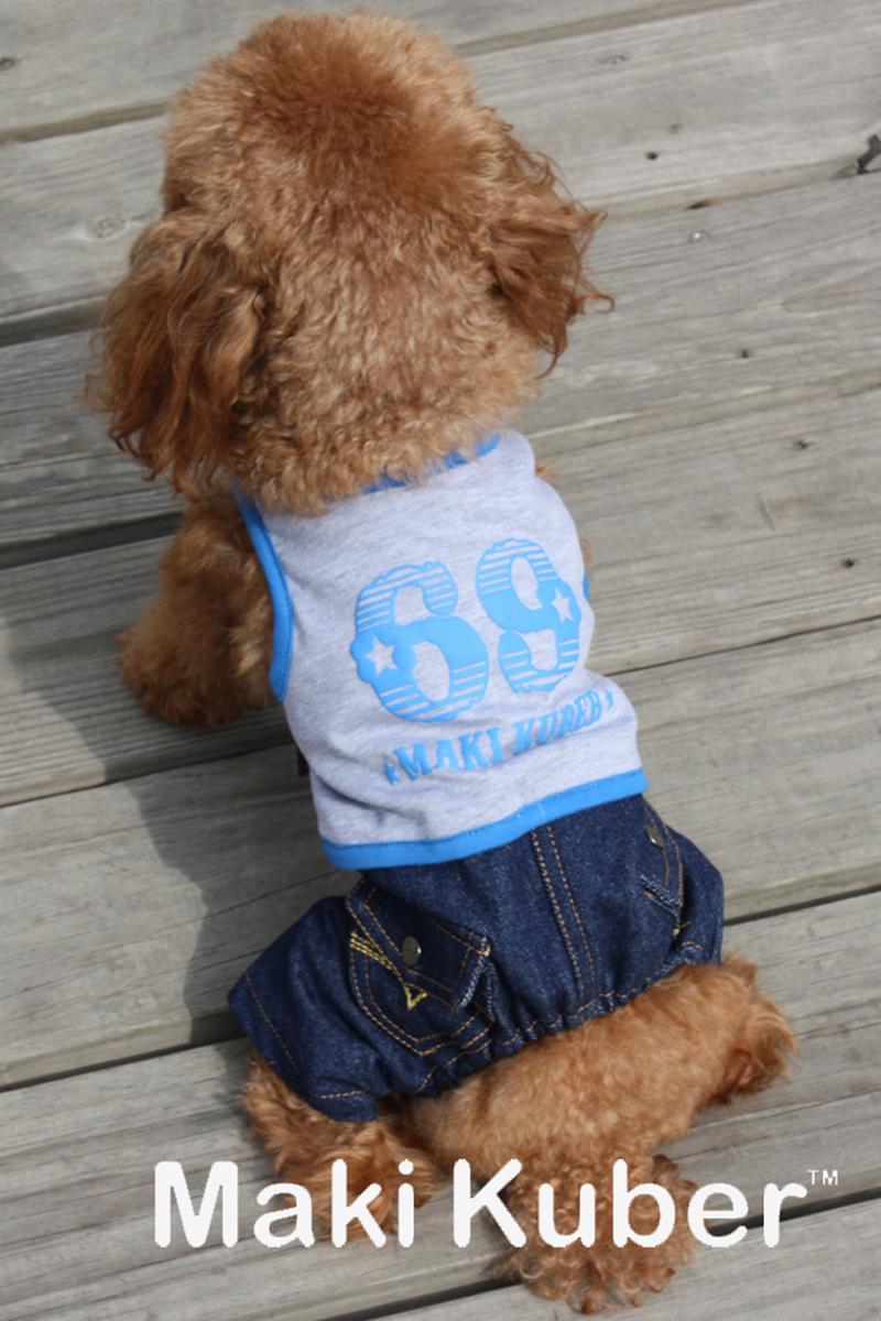 """Комбинезон для собак """"Dobaz"""", цвет: серый, джинсовый. МК1137АХЛ. Размер XL"""