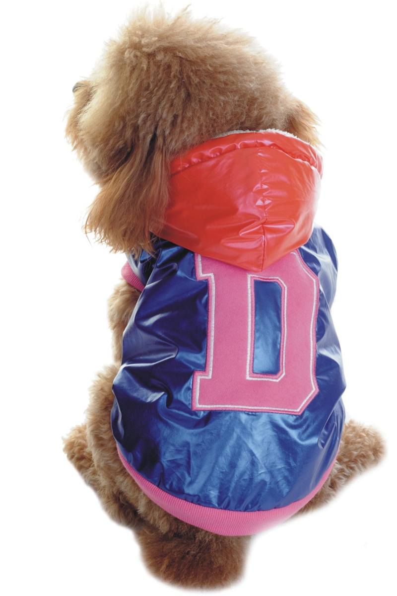 "Куртка для собак Dobaz ""D"", утепленная, цвет: синий. ДА1125АХЛ/п. Размер XL"