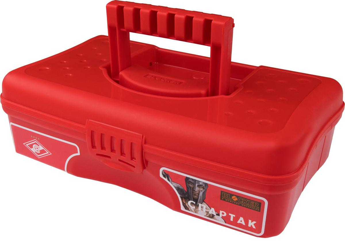 Органайзер для мелочей Blocker Спартак, цвет: белый, красный, 29,5 х 18 х 9 см цена
