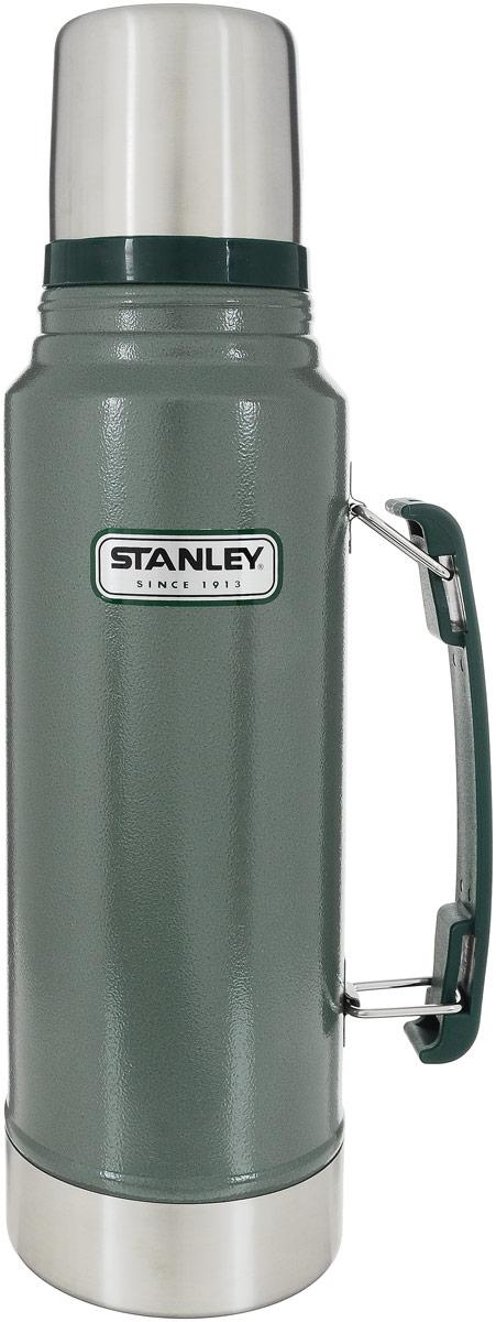 Термос Stanley Legendary Classic, цвет: темно-зеленый, 1,04 л