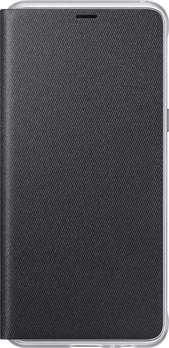 Samsung Neon Flip Cover чехол для Galaxy A8, Black чехол для смартфона samsung для galaxy a8 neon flip cover черный ef fa530pbegru ef fa530pbegru