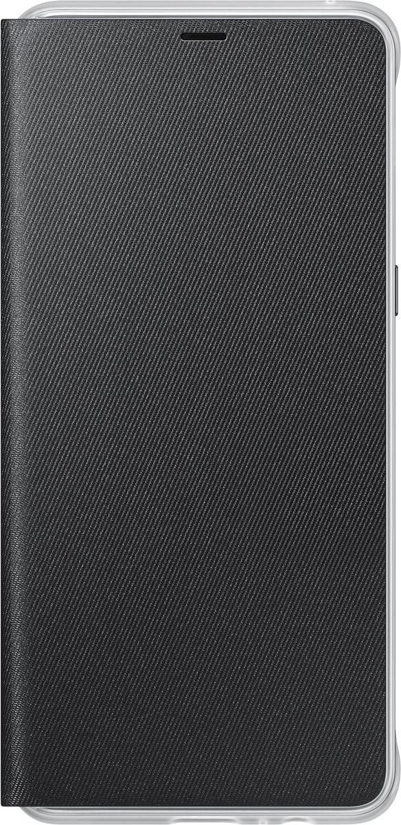 Samsung Neon Flip Cover чехол для Galaxy A8+, Black чехол для смартфона samsung для galaxy a8 neon flip cover черный ef fa530pbegru ef fa530pbegru
