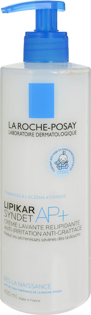 La Roche-Posay Lipikar Syndet АП+ 400мл очищающий крем гель для лица и тела la roche posay lipikar syndet ap 400 мл для очень сухой кожи