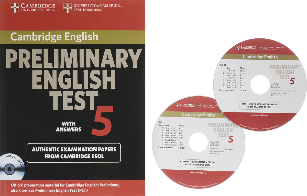 Cambridge Preliminary English Test 5: Self-study: Pack with Audio CD cambridge preliminary english test 2 student s book