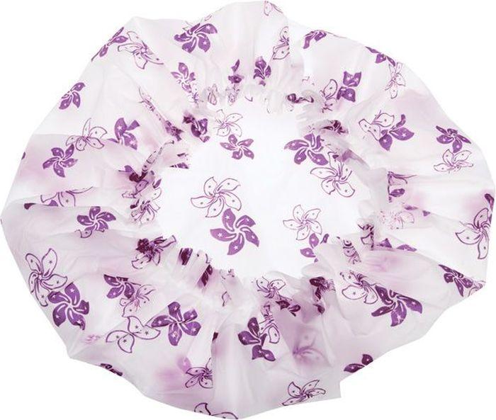Dewal BeautyШапочка для душа, цвет:  белый, фиолетовый Dewal Beauty