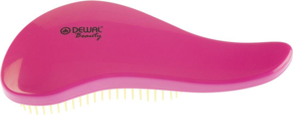 Dewal Beauty Щетка массажная, для легкого расчесывания волос, мини, цвет: розовый, желтый щетки косметические dewal beauty щетка массажная для легкого расчесывания волос большая