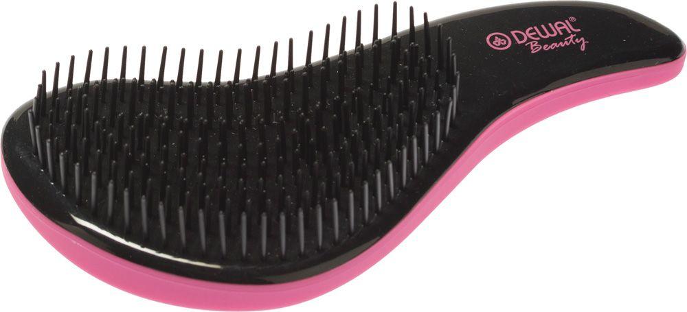 Dewal Beauty Щетка массажная, для легкого расчесывания волос, мини, цвет: розовый, черный dewal beauty щетка для волос бархат массажная прямоугольная цвет черный