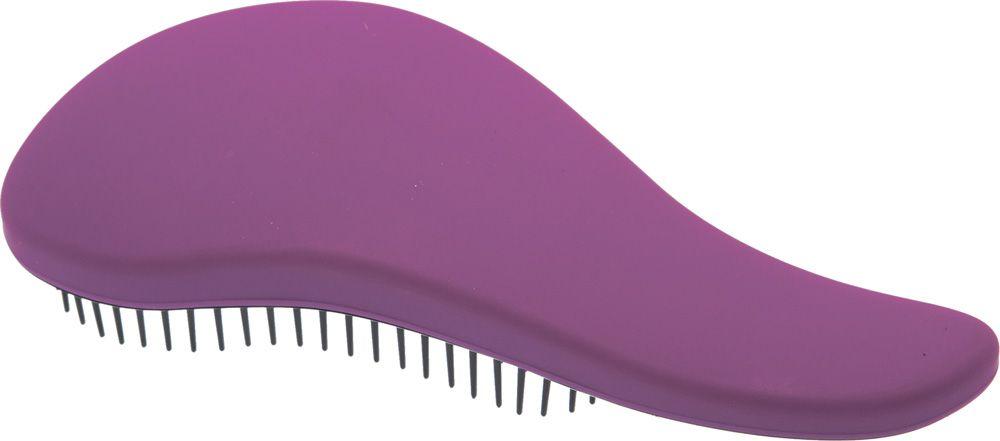 Dewal Beauty Щетка массажная, для легкого расчесывания волос, мини, цвет: фиолетовый, черный dewal beauty щетка для волос бархат массажная прямоугольная цвет черный