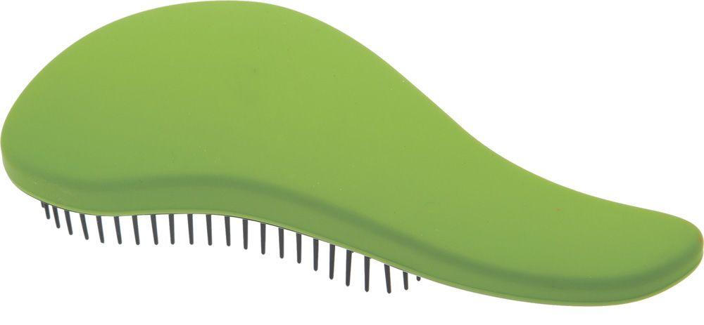 Dewal Beauty Щетка массажная, для легкого расчесывания волос, мини, цвет: зеленый, черный dewal beauty щетка для волос бархат массажная прямоугольная цвет черный
