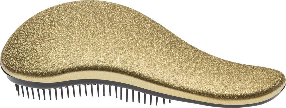 Dewal Beauty Щетка массажная, для легкого расчесывания волос, большая, цвет: золотистый, черный