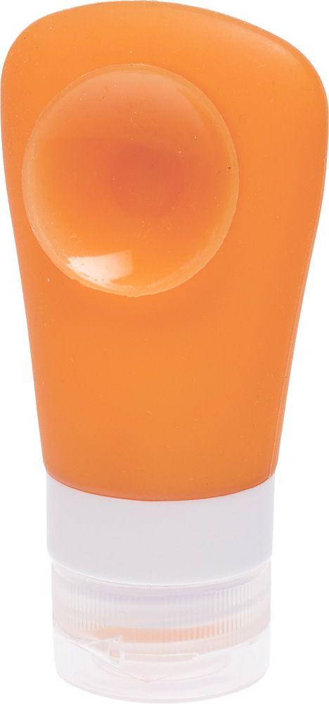 Dewal BeautyДорожная баночка для путешествий, с присоской, цвет:  оранжевый, 60 мл Dewal Beauty