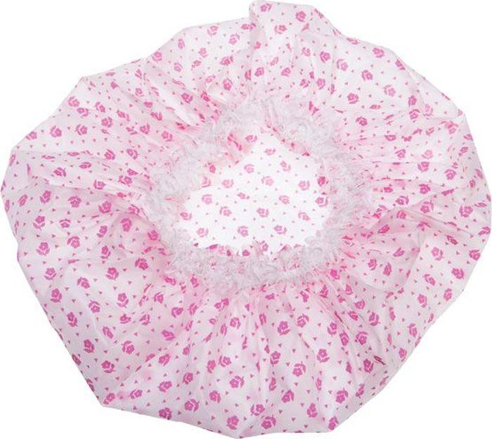 Dewal BeautyШапочка для душа, цвет:  белый, розовый Dewal Beauty