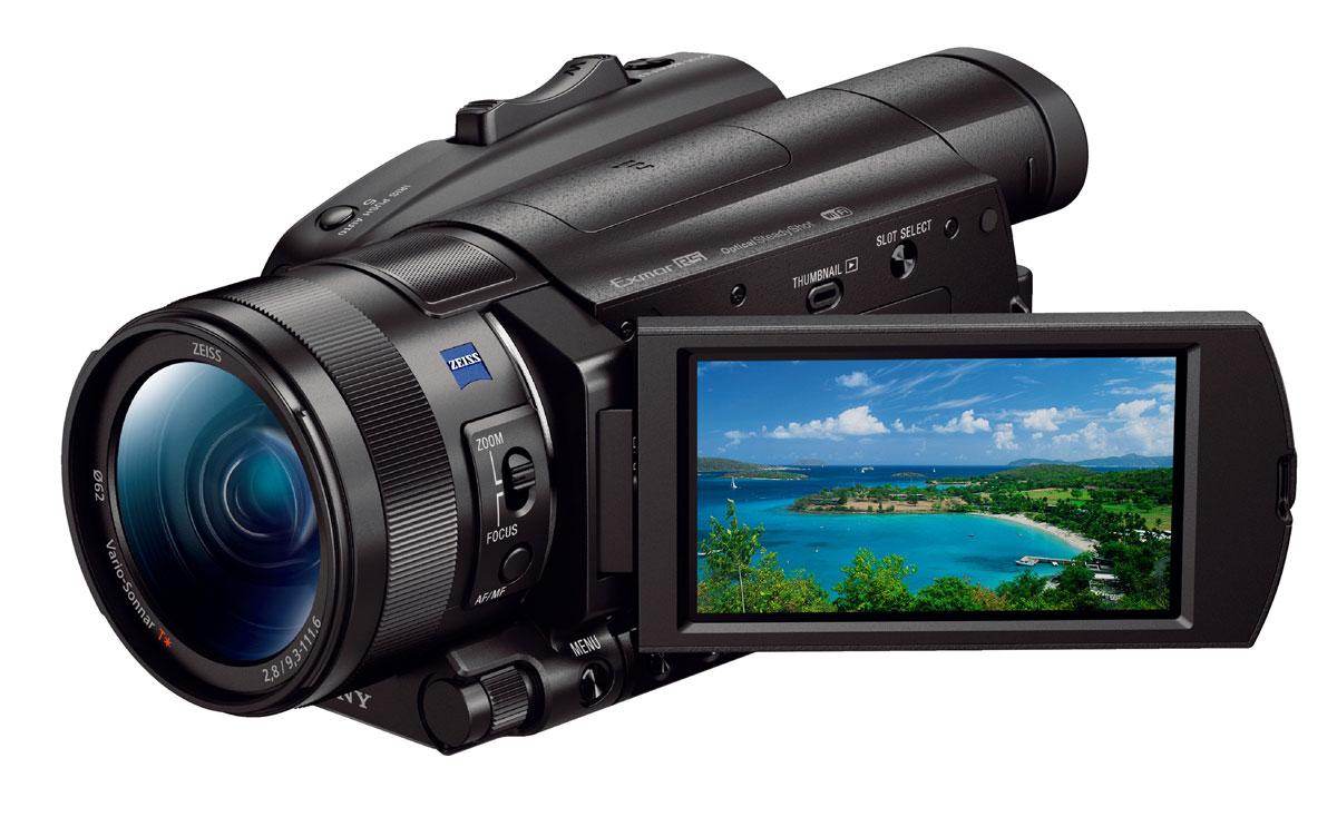 Фото - Видеокамера Sony FDR-AX700 видеокамера sony hdr cx405b black 30x zoom 9 2mp cmos 2 7 os avchd mp4 [hdrcx405b cel]