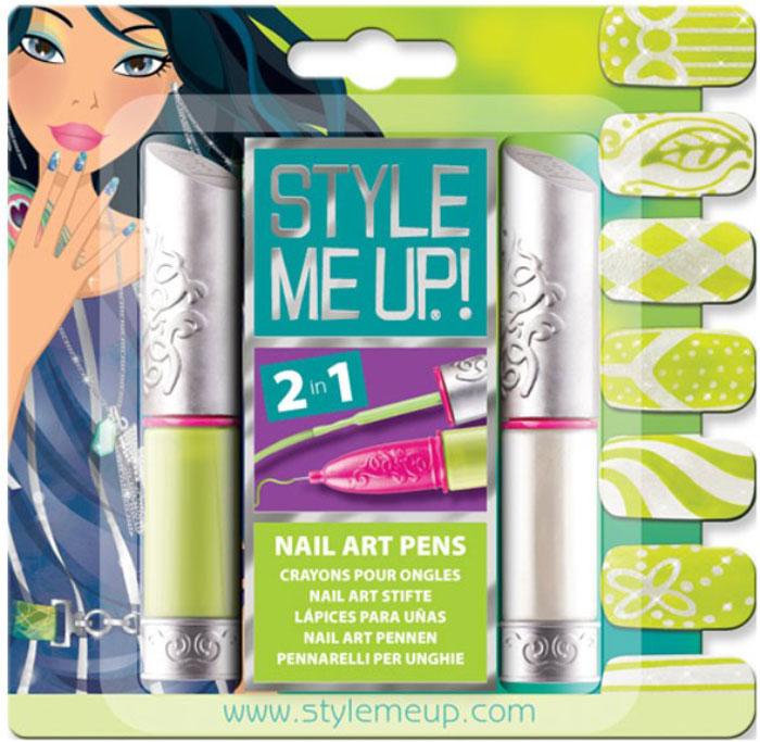 Style Me UpНабор для творчества Художественный маникюр 2 в 1 цвет зеленый белый Style Me Up