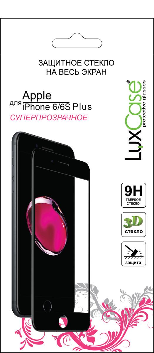 LuxCase защитное 3D стекло для Apple iPhone 6/6S Plus, Black