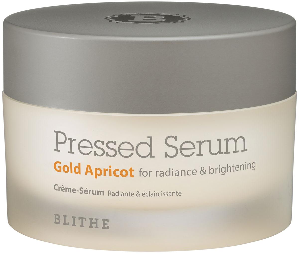 Спрессованная сыворотка-крем для сияния Blithe Gold Apricot 50мл отшелушить кожу на лице