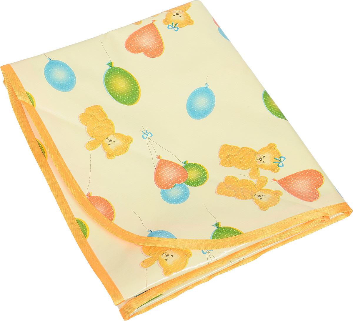 Колорит Клеенка подкладная с окантовкой цвет желтый оранжевый 70 х 100 см колорит клеенка подкладная с резинками держателями для детских колясок цвет бежевый 50 x 70 см