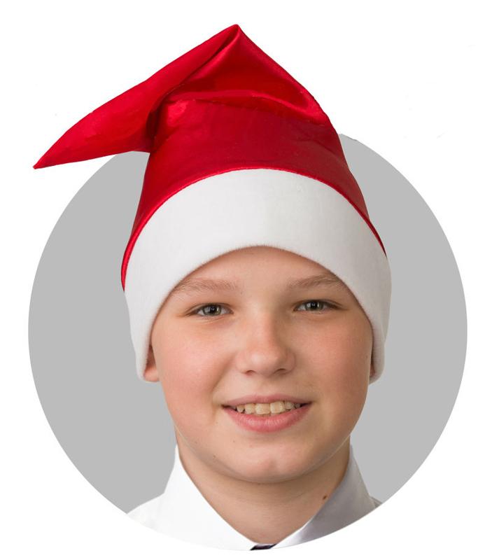 Батик Аксессуар карнавальный для мальчика Колпак цвет красный размер 52-56 колпак новогодний снежинки 719616