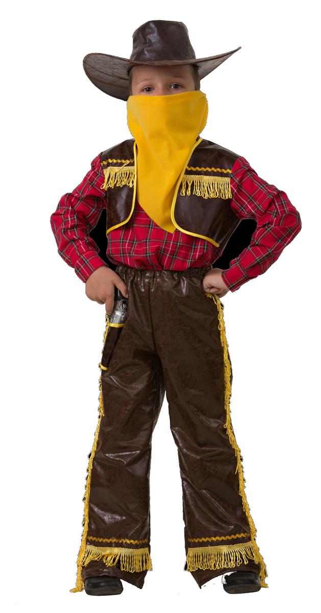 цена на Батик Костюм карнавальный для мальчика Ковбой цвет желтый размер 28