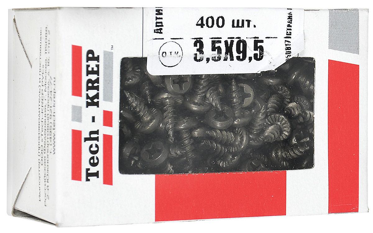 Саморез Tech-KREP ШСММ, 3,5 х 9,5 мм, 400 шт