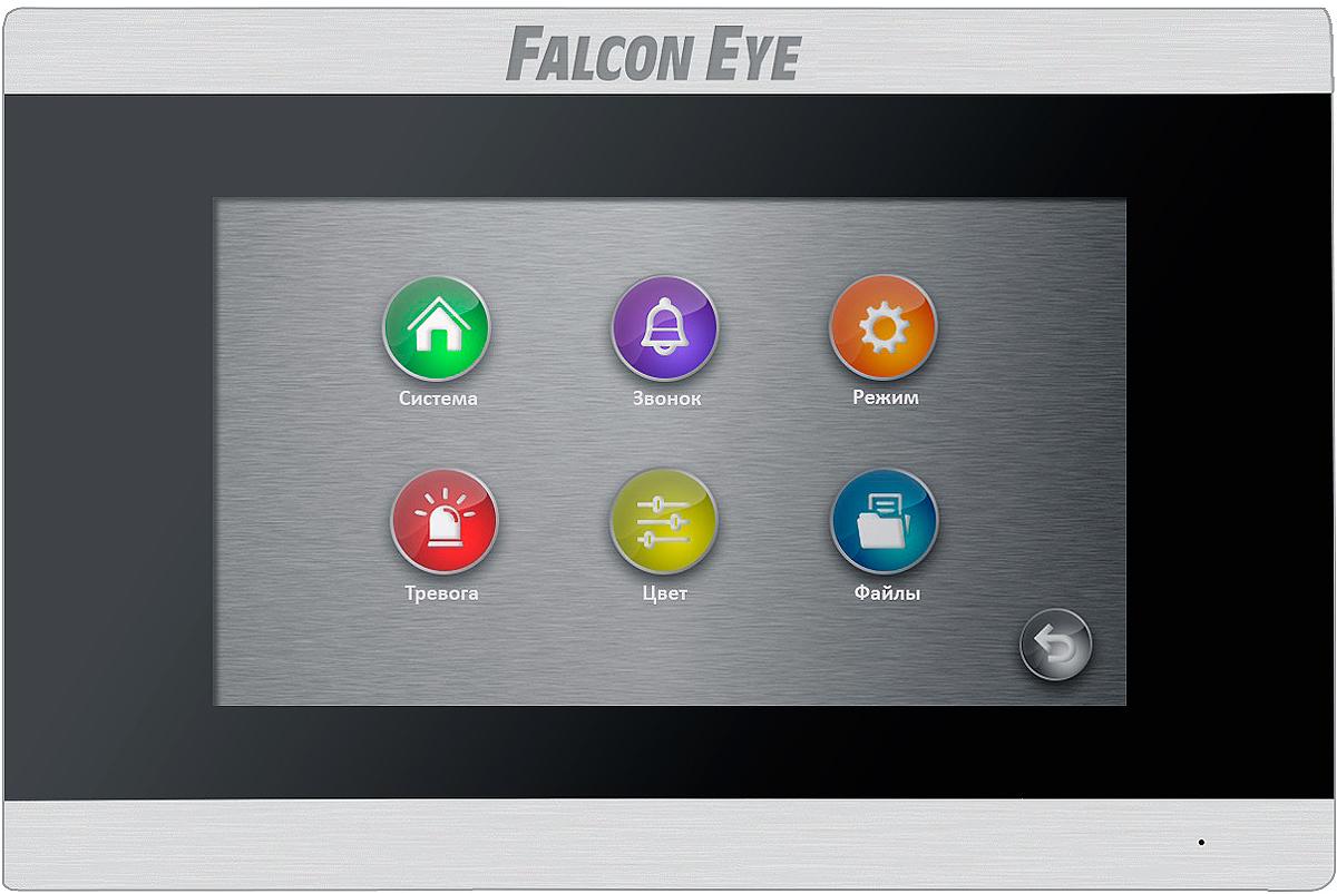 Falcon Eye FE-70 ARIES, Black видеодомофон видеодомофон falcon eye fe 70 aries white дисплей 7 tft сенсорный экран подключение до 2 х вызывных панелей и до 2 х видеокамер интерком графи