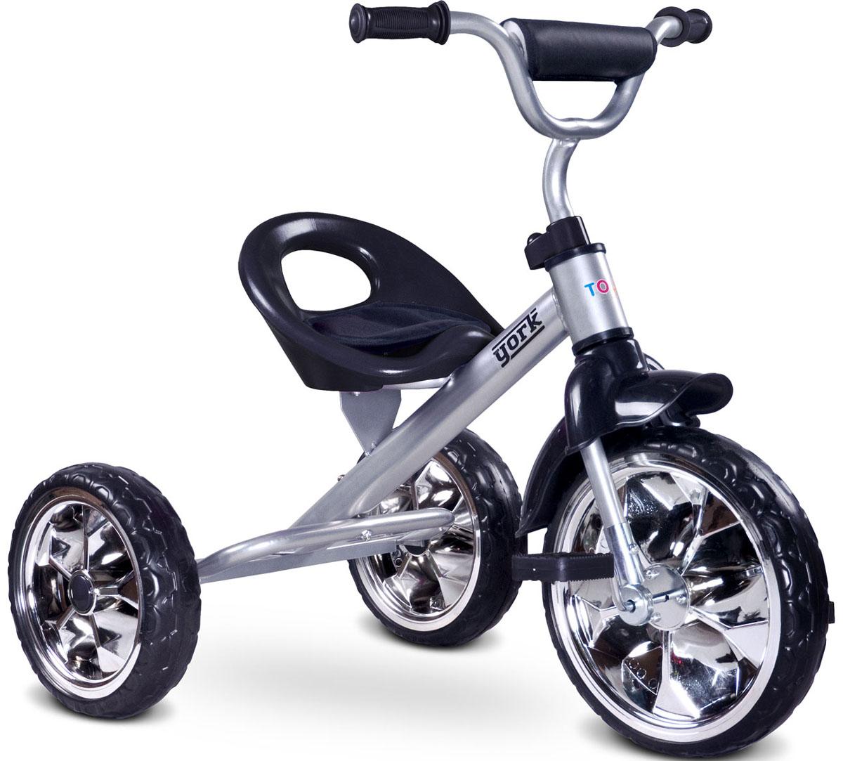 Caretero Велосипед трехколесный детский York цвет серый