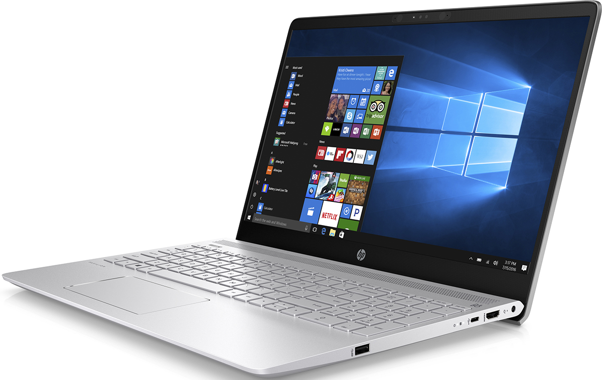 15.6 Ноутбук HP Pavilion 15-ck008ur 2PP71EA, серебристый ноутбук hp pavilion 15 ck008ur 2pp71ea
