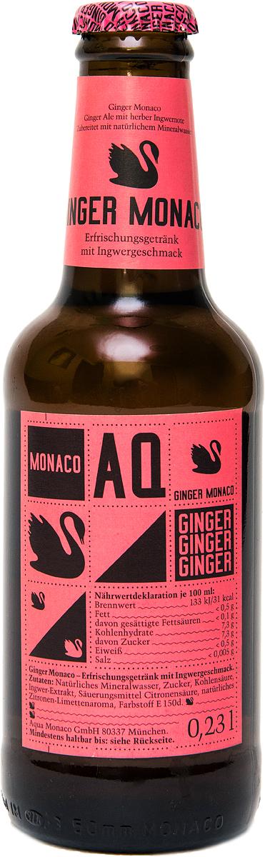 Ginger Monaco Имбирный Лимонад на основе природной минеральной воды, 230 мл golden monaco экстра сухой тоник на основе природной минеральной воды с хинином 230 мл