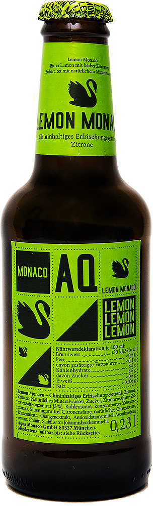 Lemon Monaco Хинил и лимон Лимонад на основе природной минеральной воды, 230 мл golden monaco экстра сухой тоник на основе природной минеральной воды с хинином 230 мл