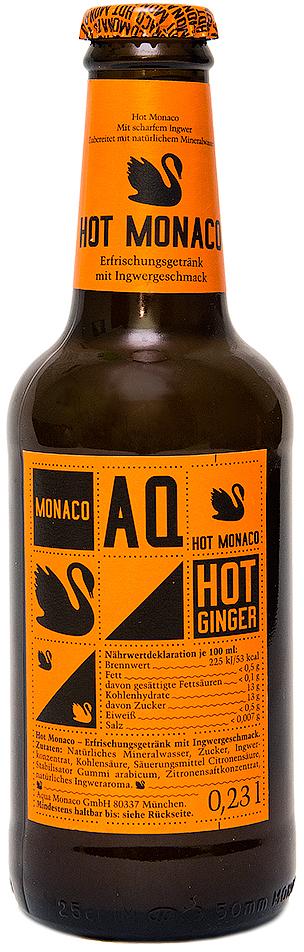 Hot Monaco Имбирь Лимонад на основе природной минеральной воды, 230 мл golden monaco экстра сухой тоник на основе природной минеральной воды с хинином 230 мл