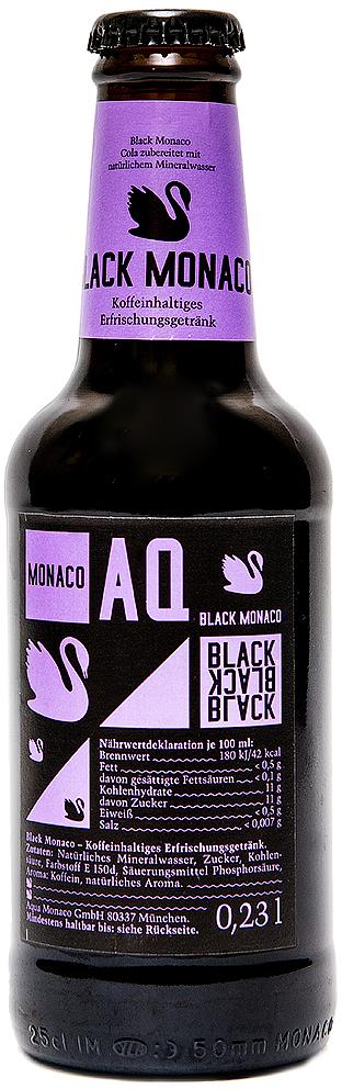 Black Monaco Лимонад на основе природной минеральной воды, со вкусом колы, 230 мл golden monaco экстра сухой тоник на основе природной минеральной воды с хинином 230 мл