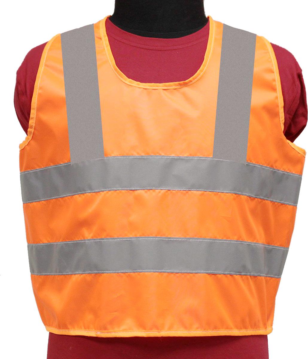 Жилет светоотражающий Tplus, детский, цвет: оранжевый, серый, возраст 7-12 летT014348Жилеты сигнальные (светоотражающие) способствуют снижению риска травматизма на дорогах посредством визуального обозначения человека днем и обеспечения его видимости в темноте. Размер: для детей от 7 до 12 лет Материал: оксфорд 210 Сигнал 150 гр\м2 Цвет: оранжевый Ширина световозвращающей ленты: 50 мм Соответсвует ПДД Класс защиты: 3 (увеличенная площадь отражающих элементов)