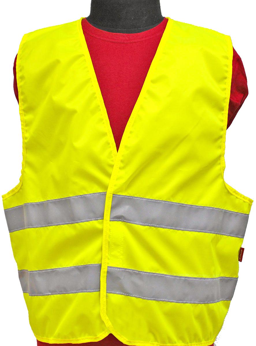 Жилет светоотражающий Tplus, класс защиты 2, цвет: желтый. Размер 60-62 терка для ног деревянная основа двухсторонняя solinberg ширина 60 мм