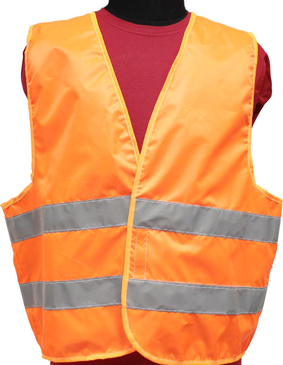 Жилет светоотражающий Tplus, класс защиты 2, цвет: оранжевый, размер 60-62 терка для ног деревянная основа двухсторонняя solinberg ширина 60 мм