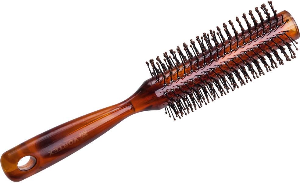 Vortex Расческа массажная, пластиковая, брашинг, с пластиковыми зубчиками, 4,3 см51053Гладкая поверхность расчески не повреждает волосы при расчесывании. Удобная ручка не выскальзывает из рук. Благодаря оригинальному дизайну расческу можно использовать как для расчесывания, так и для укладки. Подходит для всех типов волос вне зависимости от длины. Срок годности: не ограничен. Материал: пластик.